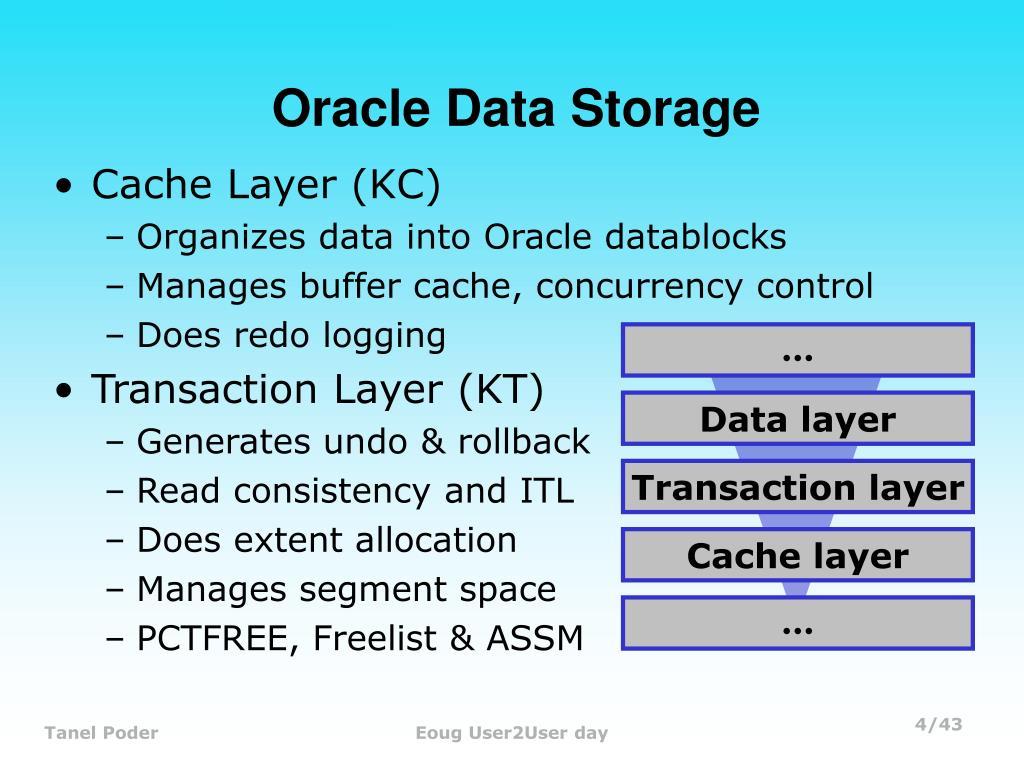 Oracle Data Storage