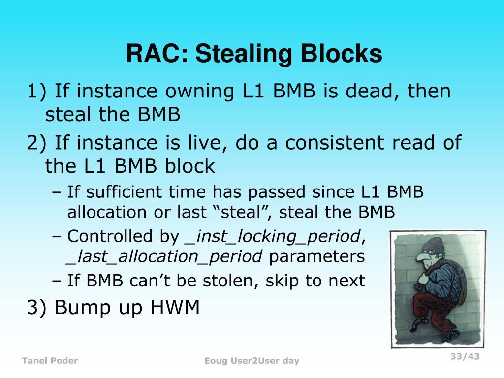 RAC: Stealing Blocks