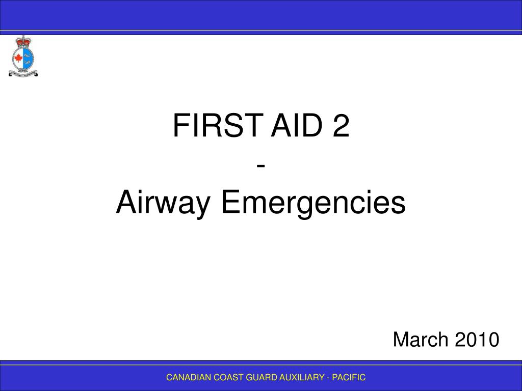 first aid 2 airway emergencies l.