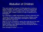 abdudion of children