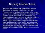 nursing interventions27