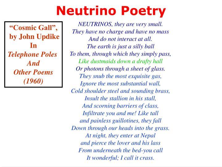 Neutrino Poetry