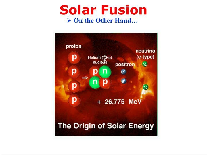 Solar Fusion