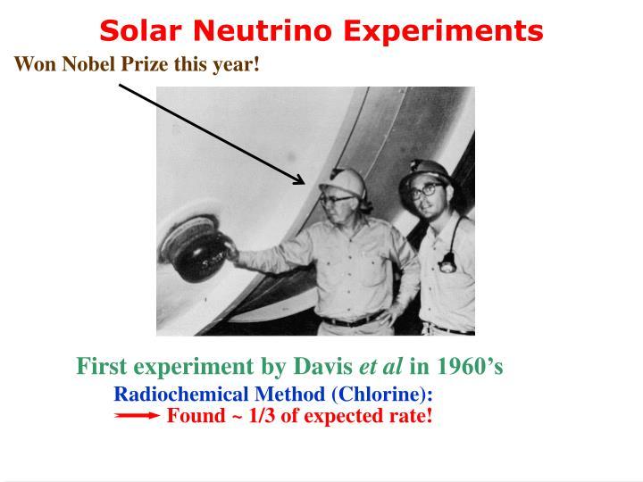 Solar Neutrino Experiments