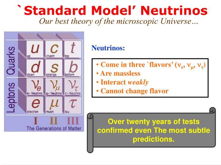 `Standard Model' Neutrinos