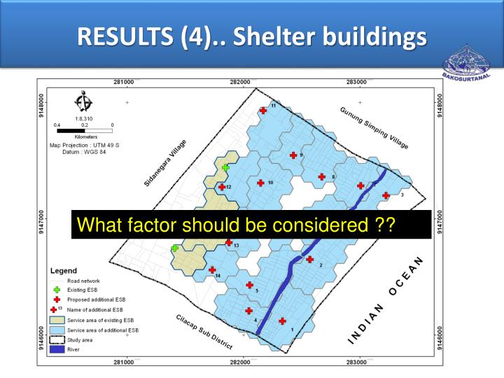 RESULTS (4).. Shelter buildings