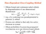 time dependent close coupling method1