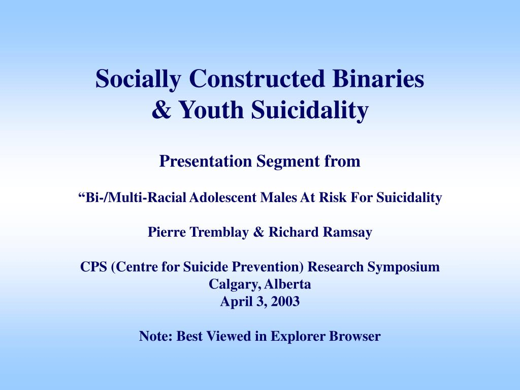 Socially Constructed Binaries