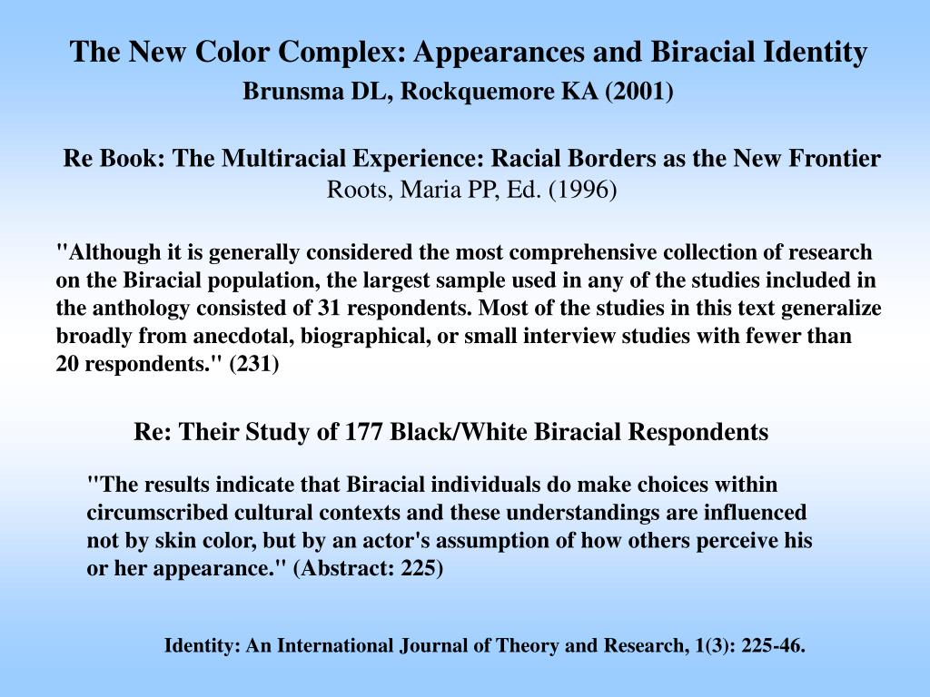 The New Color Complex: Appearances and Biracial Identity