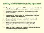 sanitary and phytosanitary sps agreement