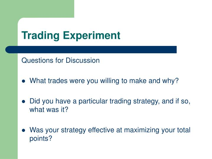 Trading experiment1