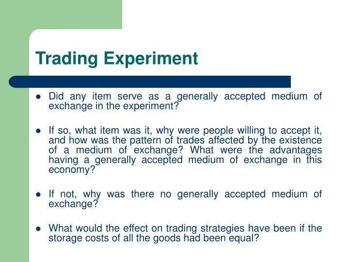 Trading experiment2