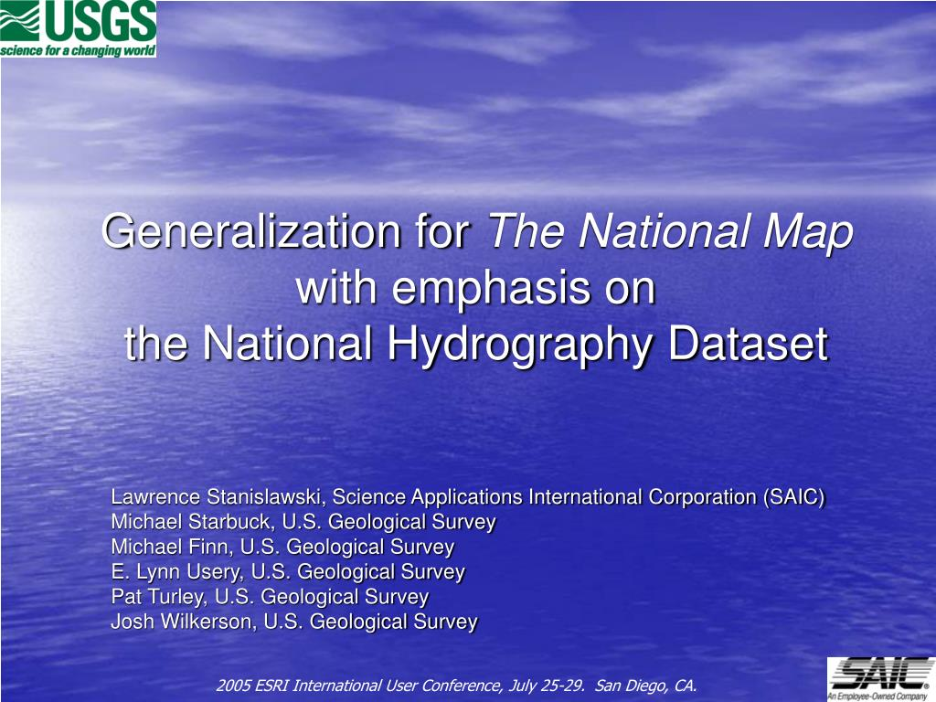 generalization for the national map with emphasis on the national hydrography dataset