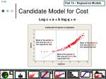 candidate model for cost