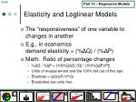 elasticity and loglinear models