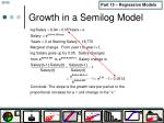growth in a semilog model
