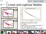linear and loglinear models