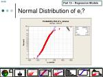 normal distribution of e i