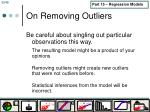 on removing outliers