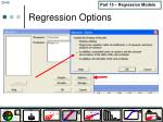 regression options