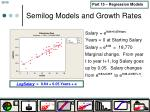 semilog models and growth rates