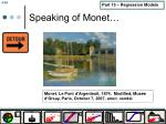speaking of monet