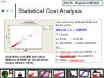 statistical cost analysis