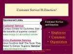 customer service is emotion