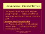 organization of customer service