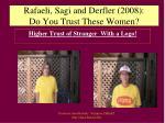 rafaeli sagi and derfler 2008 do you trust these women