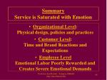 summary service is saturated with emotion