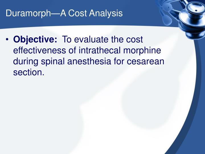 Duramorph a cost analysis2