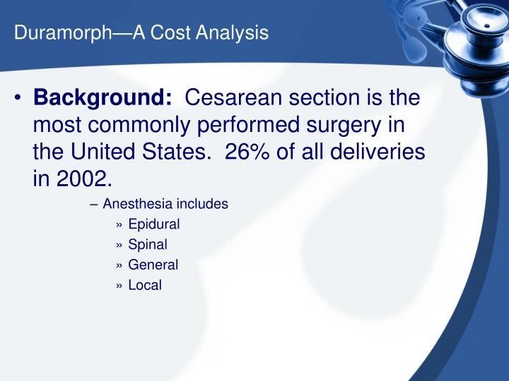 Duramorph a cost analysis3