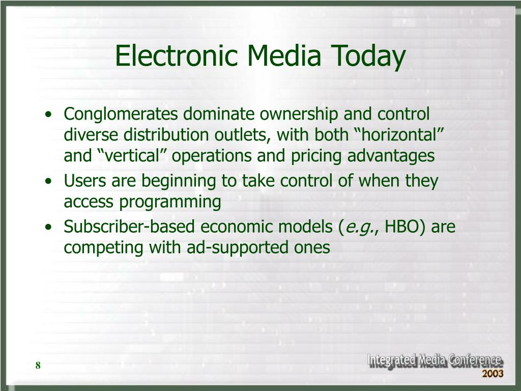Electronic Media Today