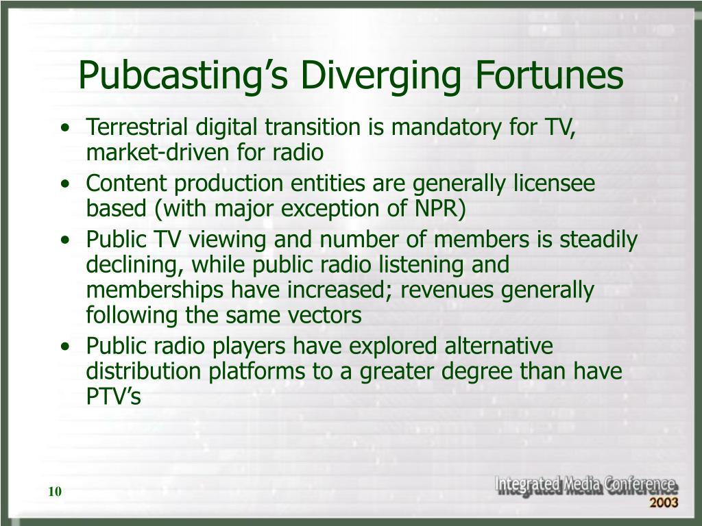 Pubcasting's Diverging Fortunes