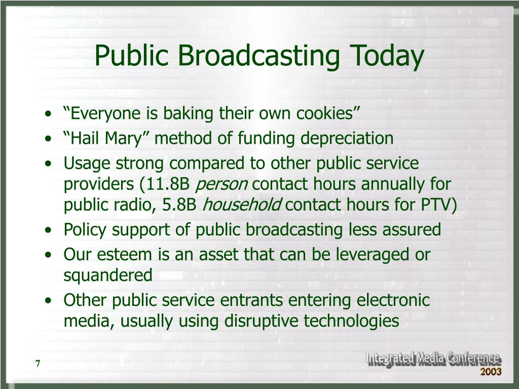 Public Broadcasting Today