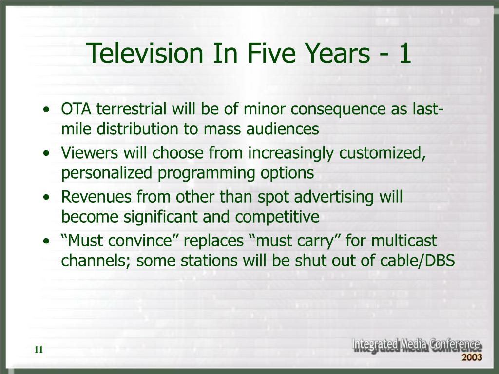 Television In Five Years - 1