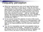 inequality perception