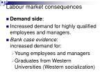 labour market consequences1