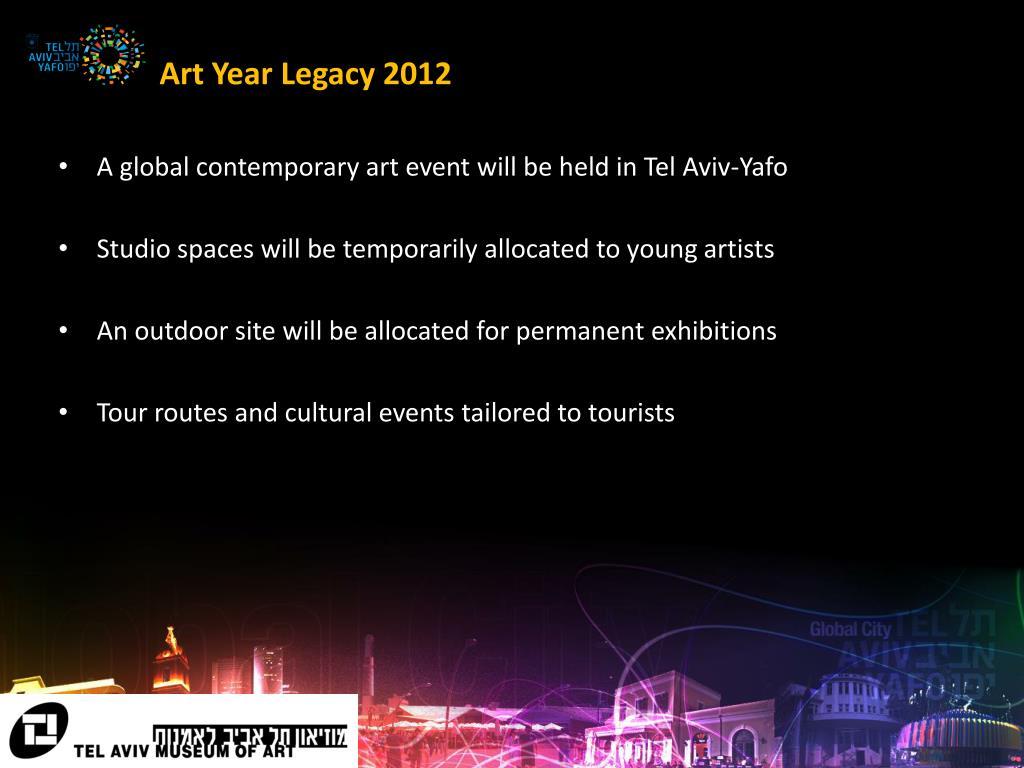 Art Year Legacy 2012