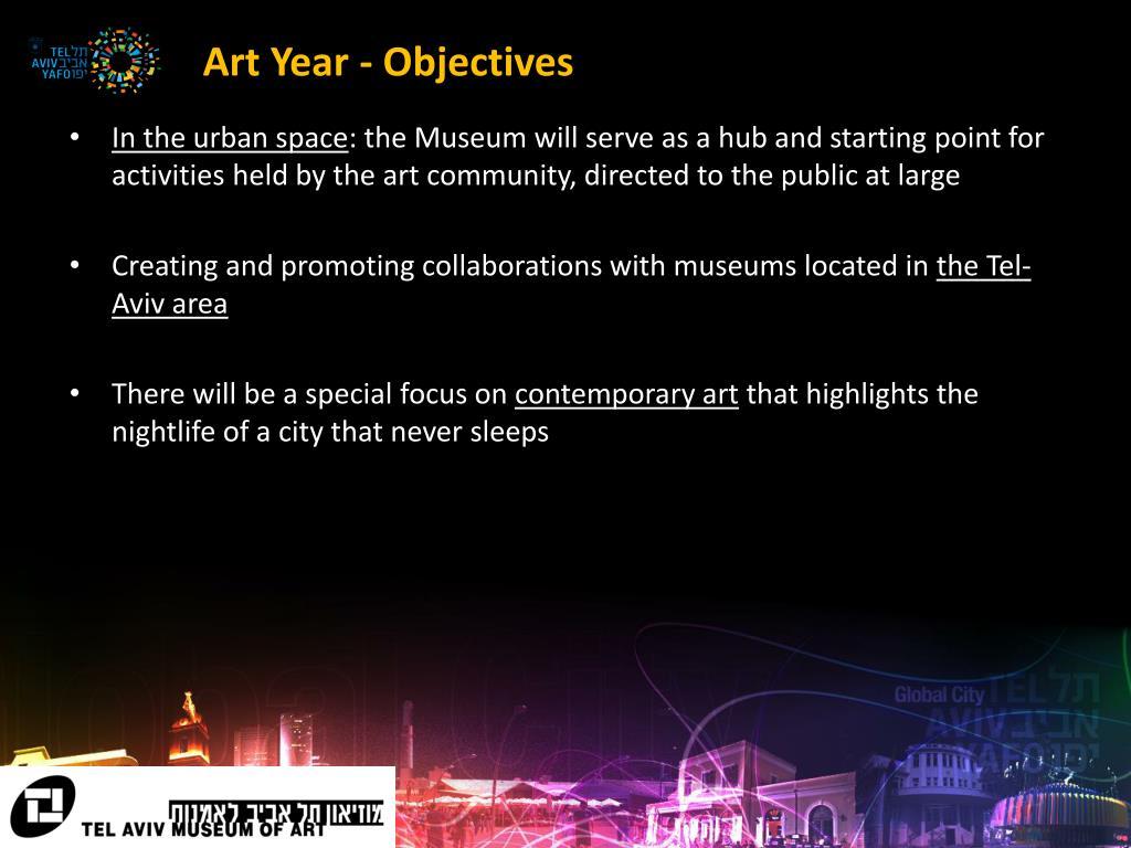 Art Year - Objectives