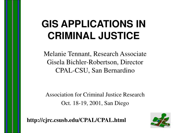 gis applications in criminal justice n.