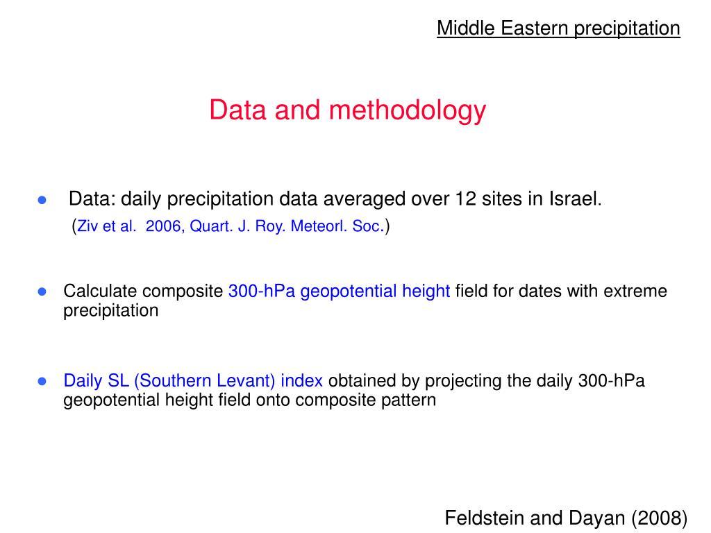Middle Eastern precipitation