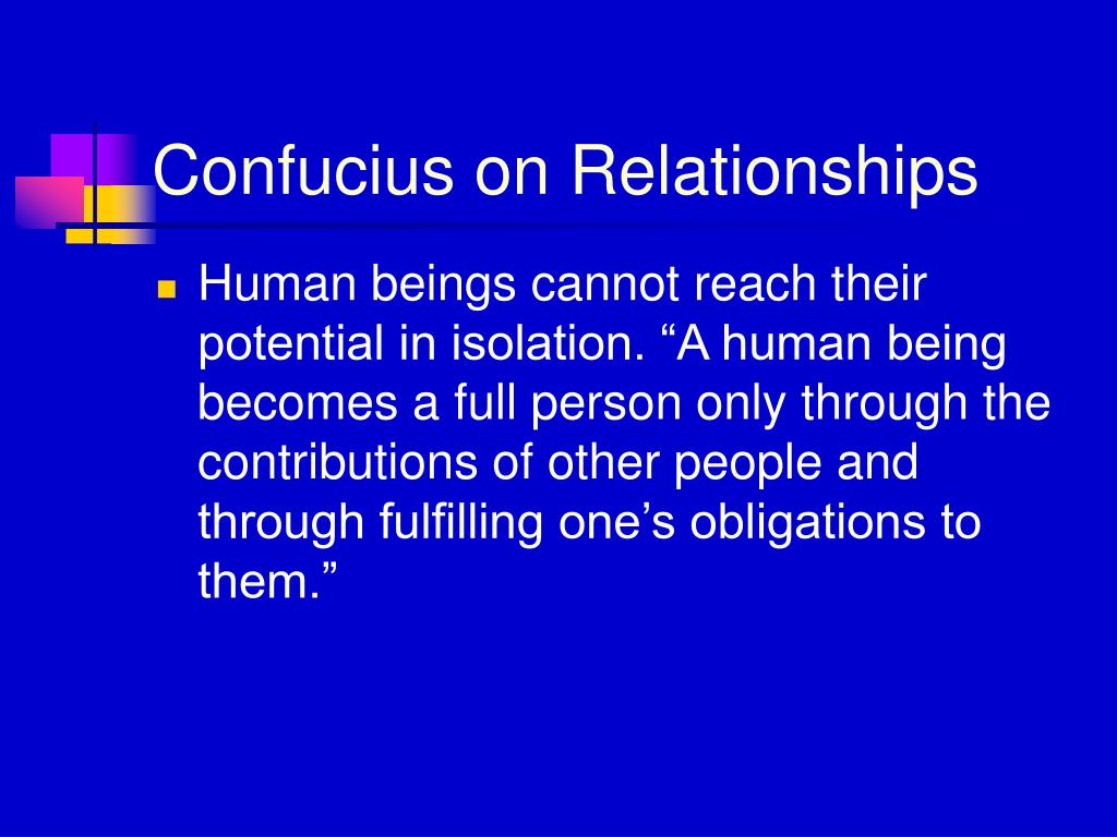 Confucius on Relationships