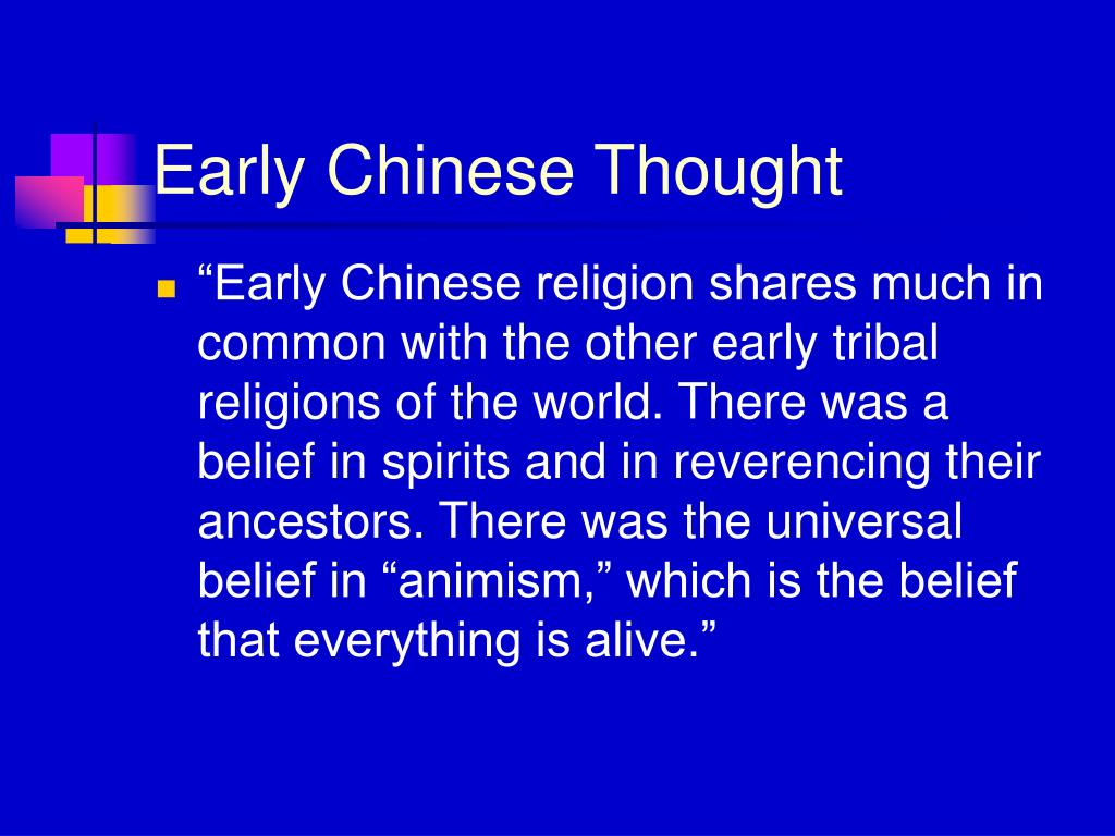 Early Chinese Thought