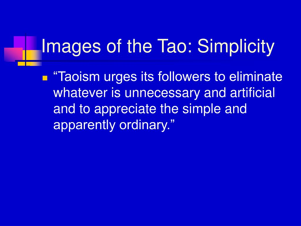 Images of the Tao: Simplicity