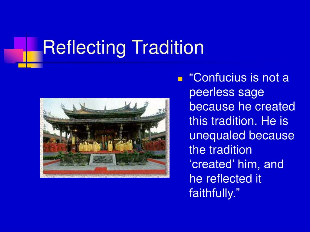 Reflecting Tradition