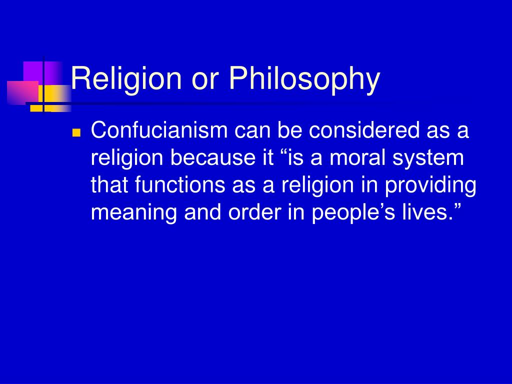 Religion or Philosophy