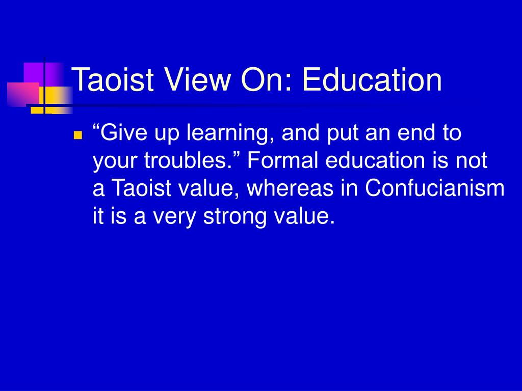 Taoist View On: Education