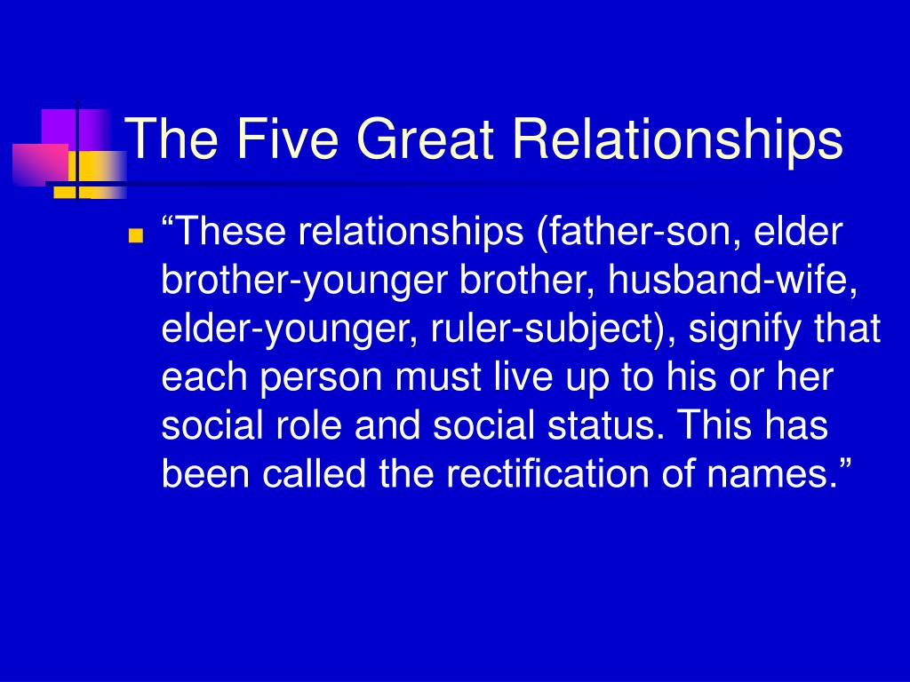 The Five Great Relationships